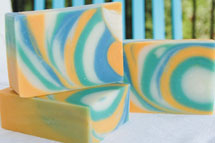 Palm Free Funnel Swirl Soap Recipe by Soap Making Essentials