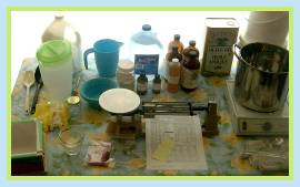 Set Up Soap Making Equipment and Ingredients