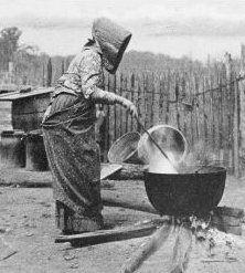 Colonial Soap Maker Boiling the Lye