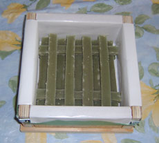 Soap Sticks in soap mould