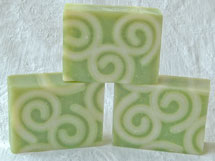 Using Soap Curls to make designs in hand made soap