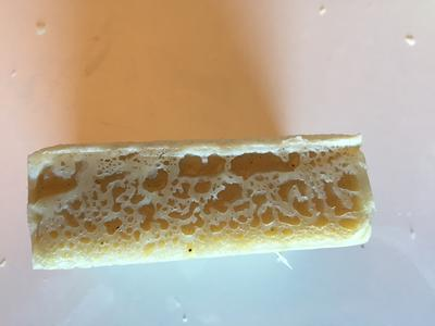 Side, very honeycomb looking