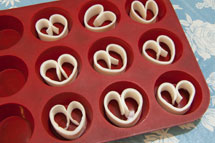 Hand formed soap hearts