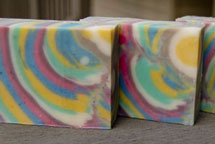 Column Swirl Handmade Soap Recipe by Soap Making Essentials