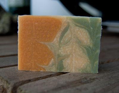 Soap that has glycerin rivers in it.