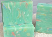 Confetti soap created with shredded soap