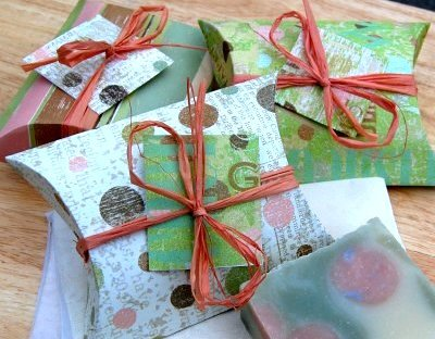 Pillow Box tutorial for wrapping handmade soaps by Soap Making Essentials
