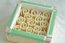 Soap curls in soap mold